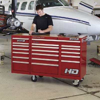 "Waterloo Industries Professional HD Series 46""W 10-Drawer Top Chest Color: Red"