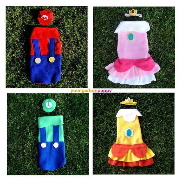 Mario Bros Dog Costumes Luigi Can Be Luigi Pets Pinterest
