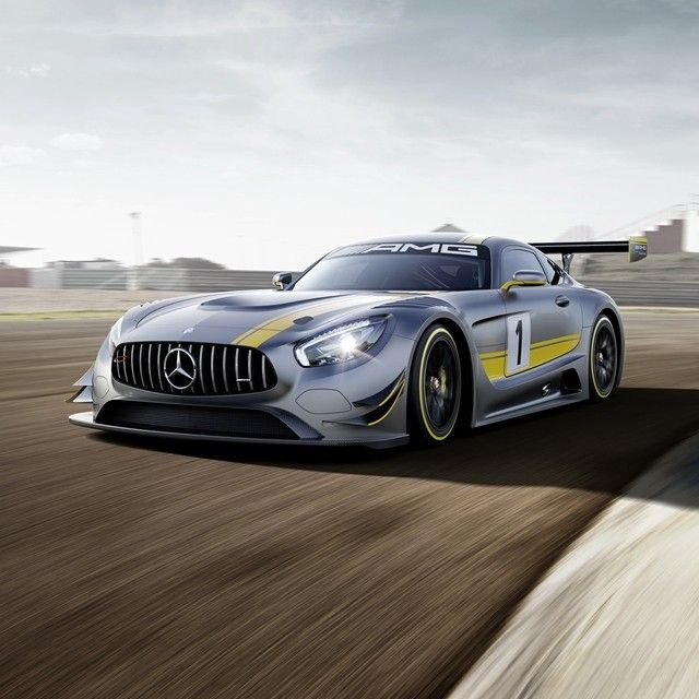 Whether waiting for the green flag to wave or taking a checkered one, the all-new Mercedes-AMG GT3 looks like the embodiment of undiluted power that it is. A wider body, larger air intakes and a huge rear wing all contribute to an overwhelmingly muscular shape, while clinging to it all is a coat of designo Selenite Gray Magno.  #Mercedes #Benz #AMGGT #AMG #GT #GT3 #GenevaMotorShow #Geneva #FIA #Affalterbach #instacar #carsofinstagram #germancars #luxury