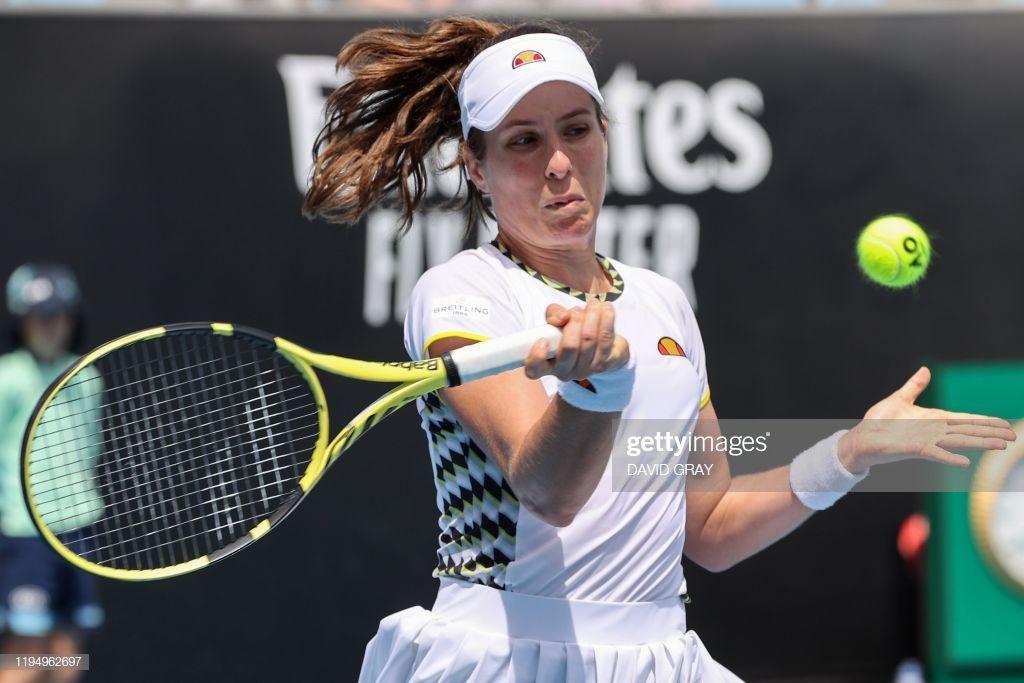 News Photo Britain S Johanna Konta Hits A Return Against In 2020 Johanna Konta Britain Australian Open Tennis