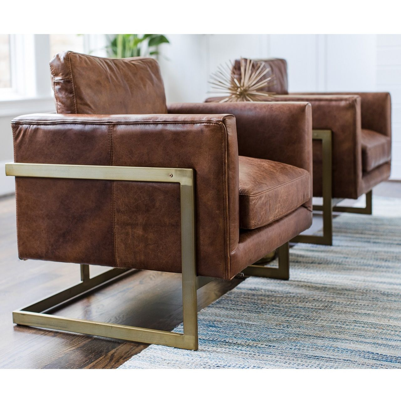 Best London Modern Cognac Leather Club Chair Leather Lounge 640 x 480