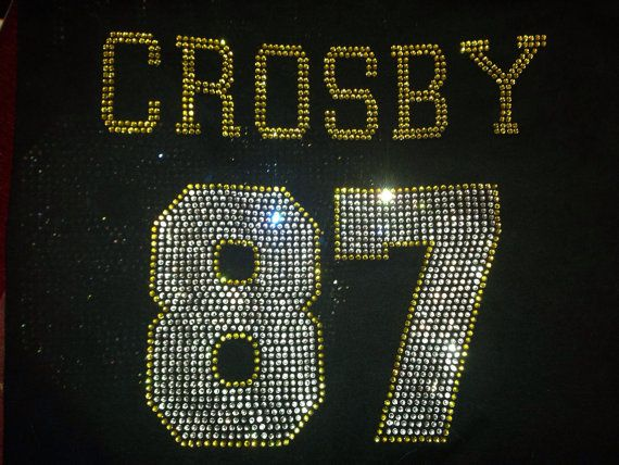 best service f4629 8fd17 Rhinestone Hockey number jersey bling shirt | Sports shirts ...