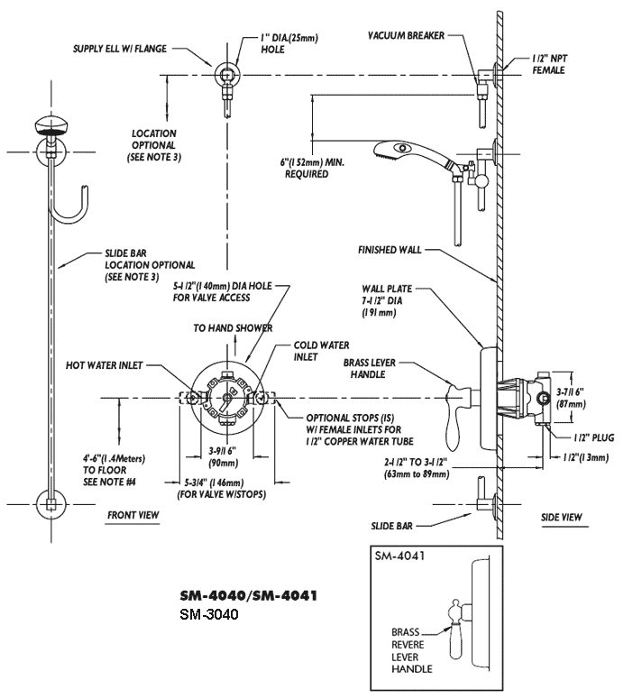 Speakman Ada Compliant Shower System Sm 3040 4040 4041
