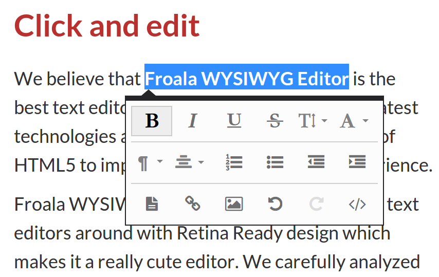 Froala WYSIWYG Editor | Free for non-commercial | HTML5 and More ...