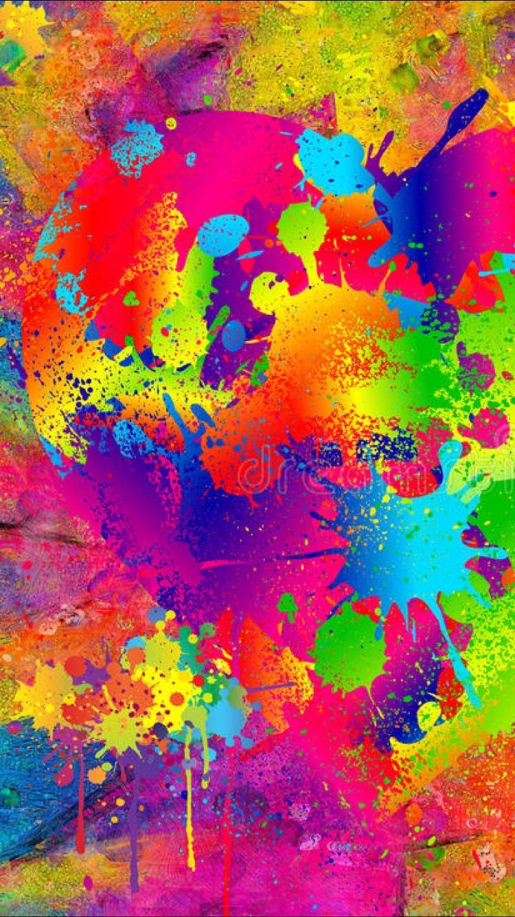 Pin By Andrew On Warna Warni Painting Wallpaper Artistic Wallpaper Rainbow Wallpaper