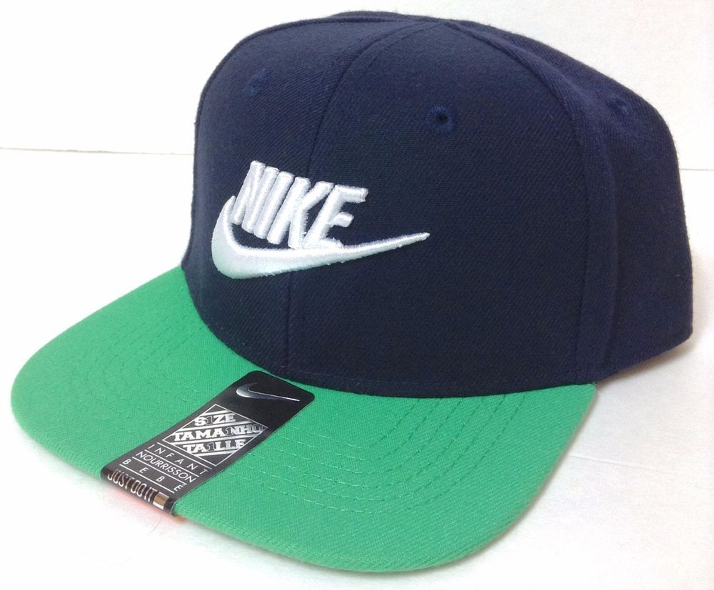 1d7bc71df20 Infant-Size NIKE SWOOSH SNAPBACK HAT Navy green Flat-Bill Baby Toddler  Boy-Girl  Nike