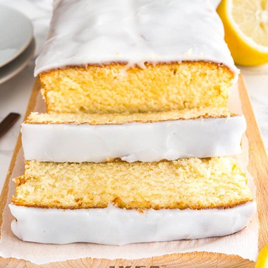 Homemade Lemon Loaf Cake With Lemon Glaze Recipe (With