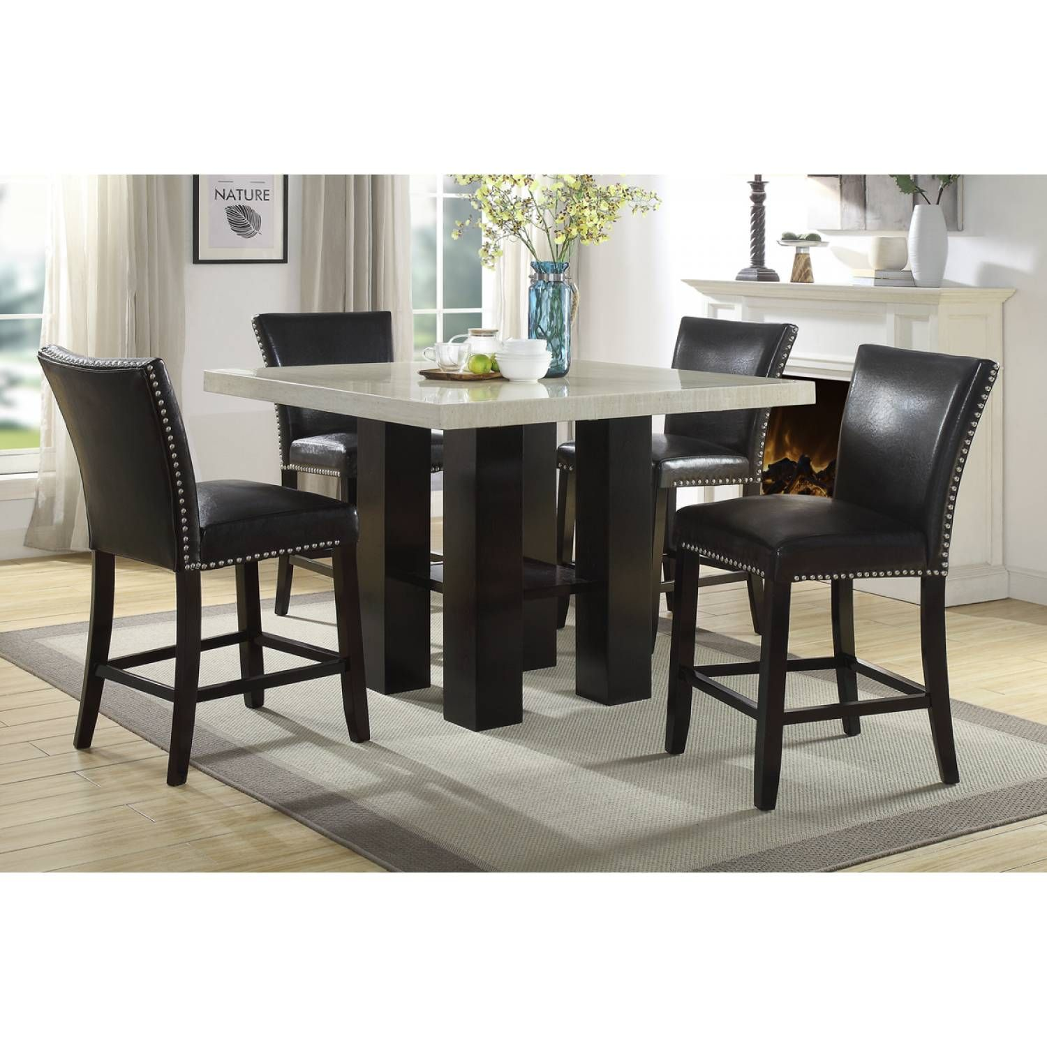 F1780 High Chair Counter Height Dining Table Set Counter Height Dining Table Counter Height Table