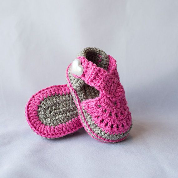 Crochet sandalias bebé sandalias de chica de bebé zapatos de ...