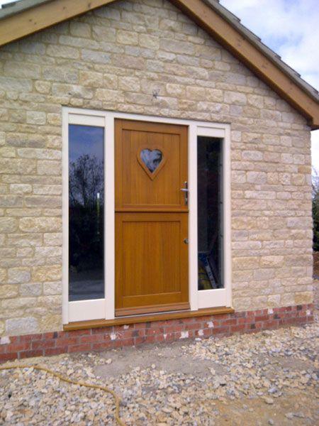 Heart Glass Feature In Hardwood Front Door Hardwood