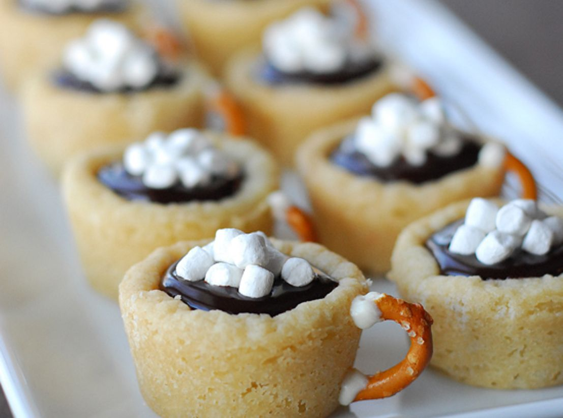 Hot Chocolate Cookie Cups | Recipe | Cups, Hot chocolate and ...