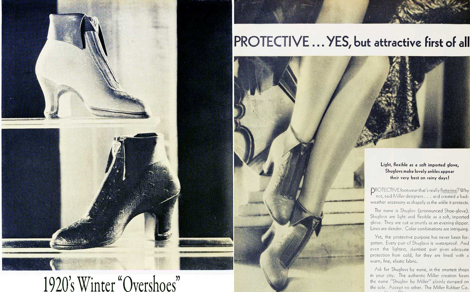 Swinterovershoes keep your pretty heels clean and dry on the