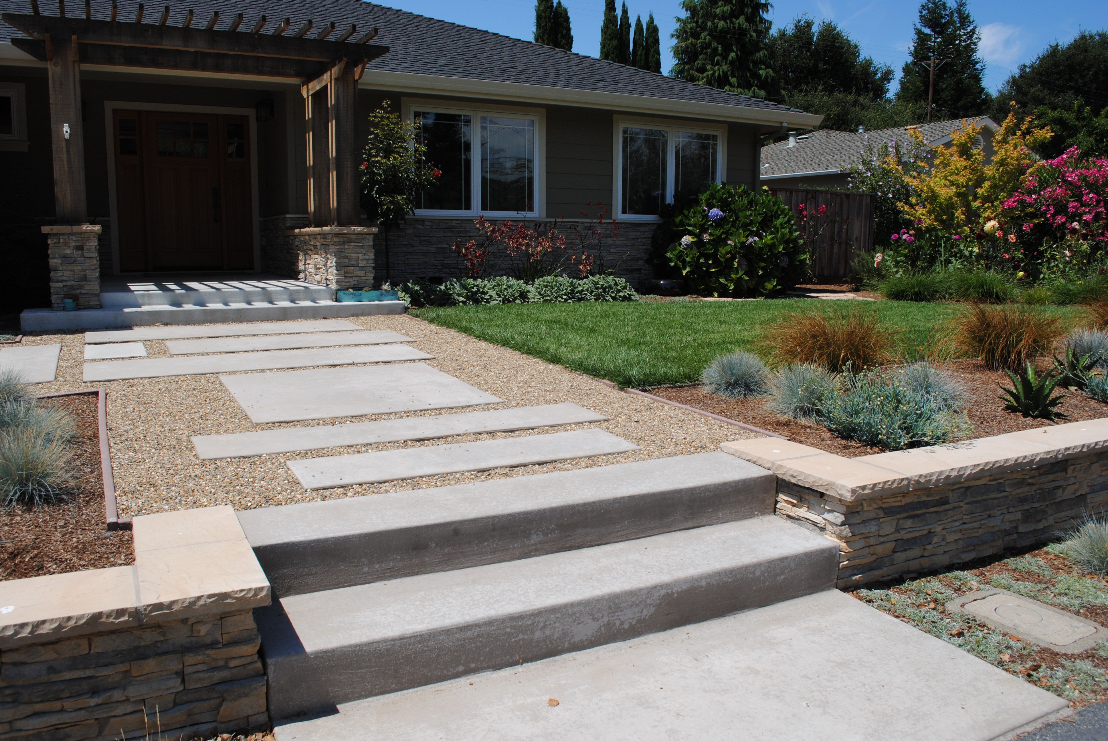 front yard stairs
