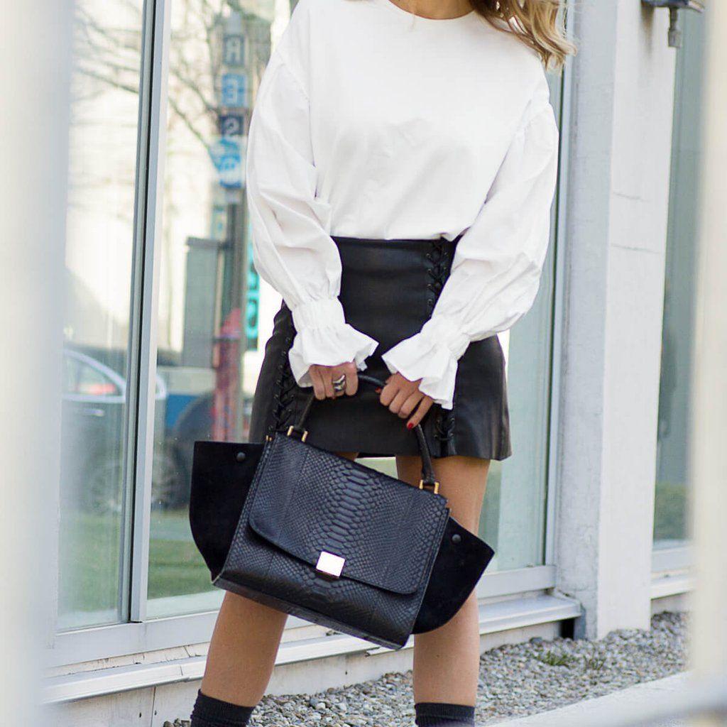 Celine Black Python Trapeze Celine Bags Bags Celine Handbags