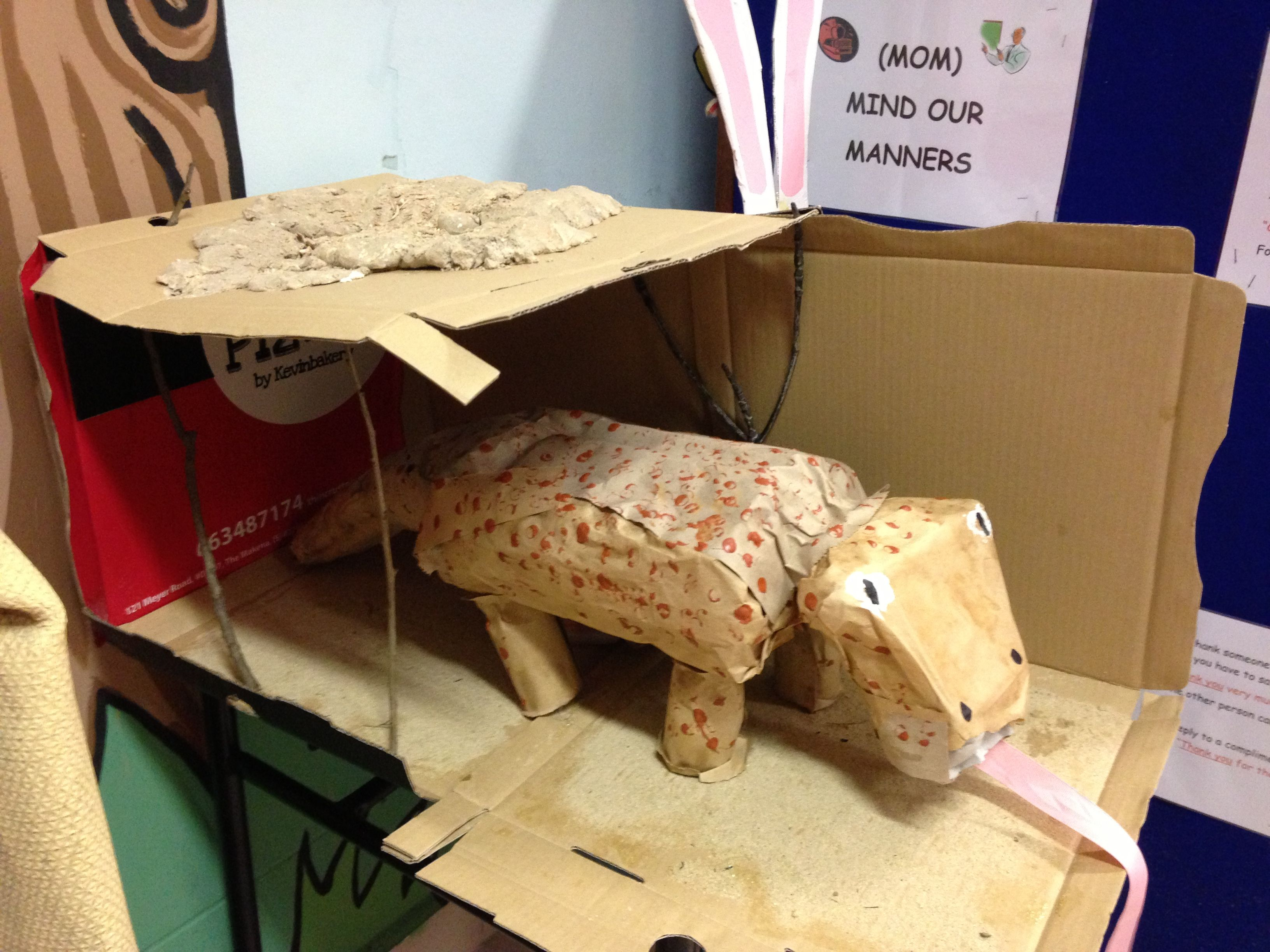 Komodo Dragon And Its Burrow With Recycled Materials Home