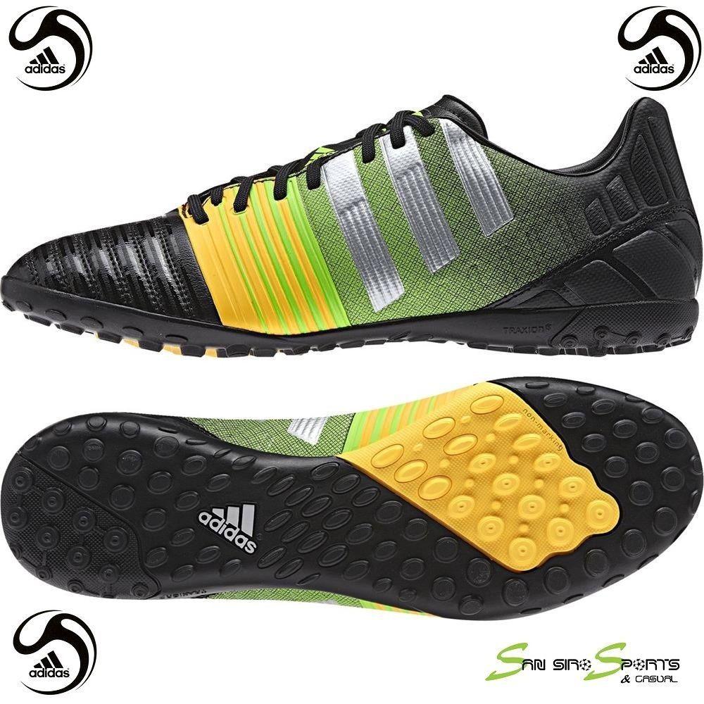 Adidas Men Futsal Shoes M29930 Nitrocharge 3.0 Turf Outdoor Soccer Boots AG  2016