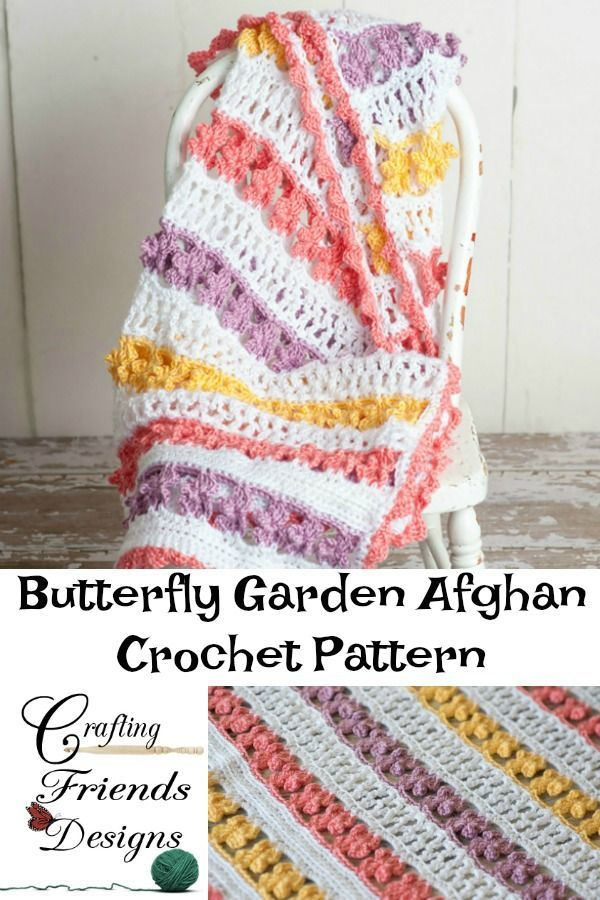 Butterfly Garden Afghan Crochet Pattern | Pinterest