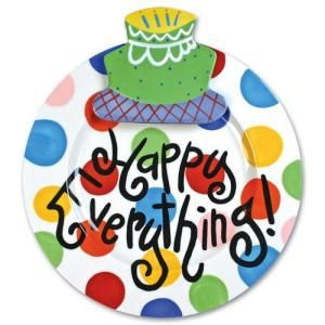 Coton Colors Happy Birthday Plate Background