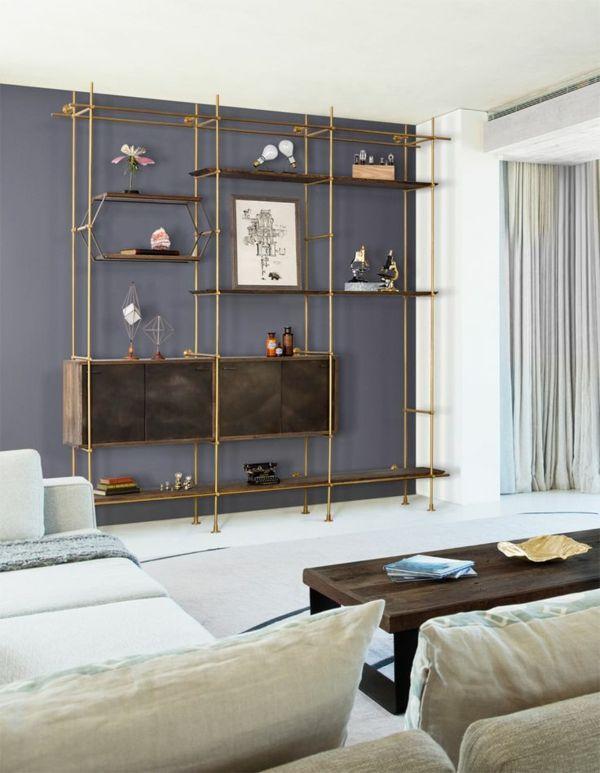 Großartig Modernes Regalsystem Wohnzimmer Weiße Sofas