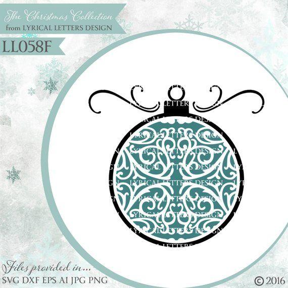 b2d1967c40002 Christmas ornament Block Design LL064 A - SVG - Cutting File - Ai ...