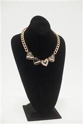 Betsey Johnson Multi Heart Necklace