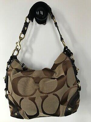 CoachCarleySignatureCoatedCanvas Brown LeatherTrimHobo ShoulderbagNoE0826-10619 #fashion #clothing #shoes #accessories #women #womensbagshandbags (ebay link)