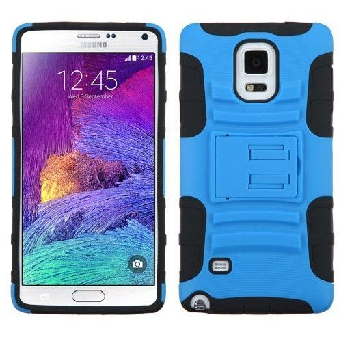 MYBAT Advanced Armor KickStand Galaxy Note 4 Case - Blue/Black