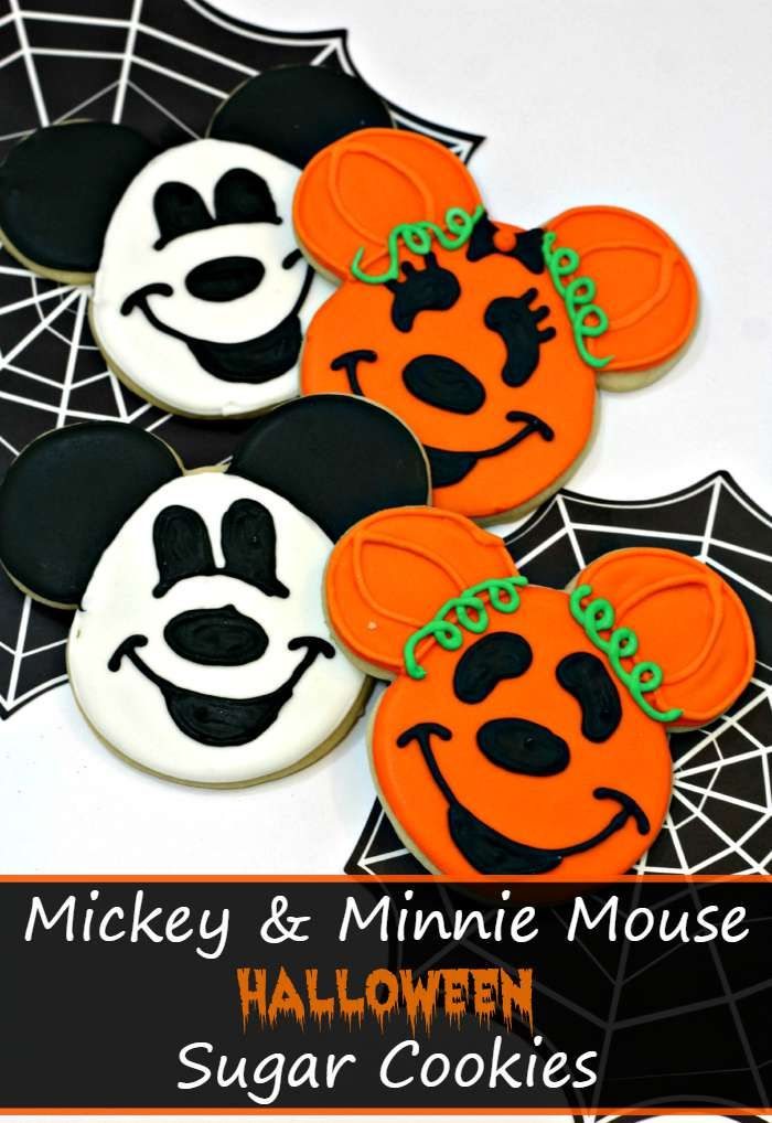 Mickey and Minnie Mouse Halloween Sugar Cookies | Minnie mouse ...