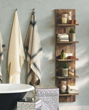 Wooden shelves to make yourself in the bathroom – the new trend in the bathroom …