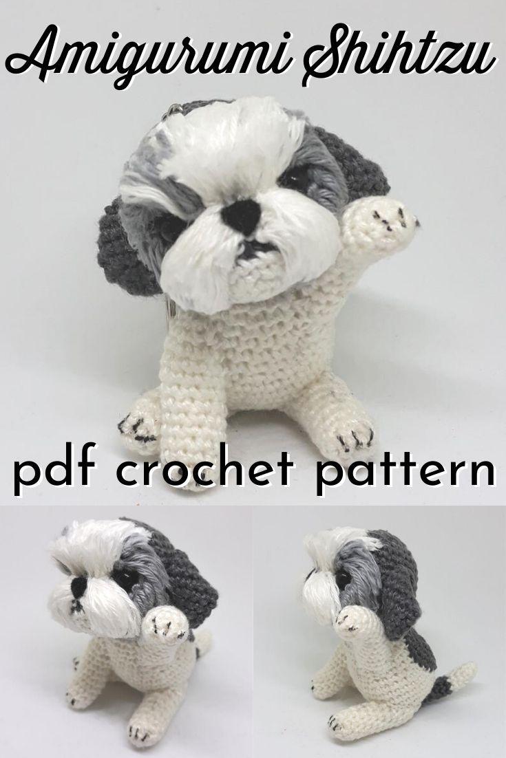 Mini Amigurumi Shihtzu Crochet Pattern