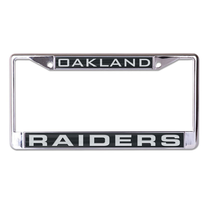 Oakland Raiders Wincraft Inlaid Metal License Plate Frame Oakland Raiders Nfl Oakland Raiders License Plate Frames