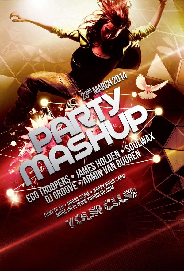 Party Mashup Flyer Flyer template, Template and Flyer design - harmony flyer template
