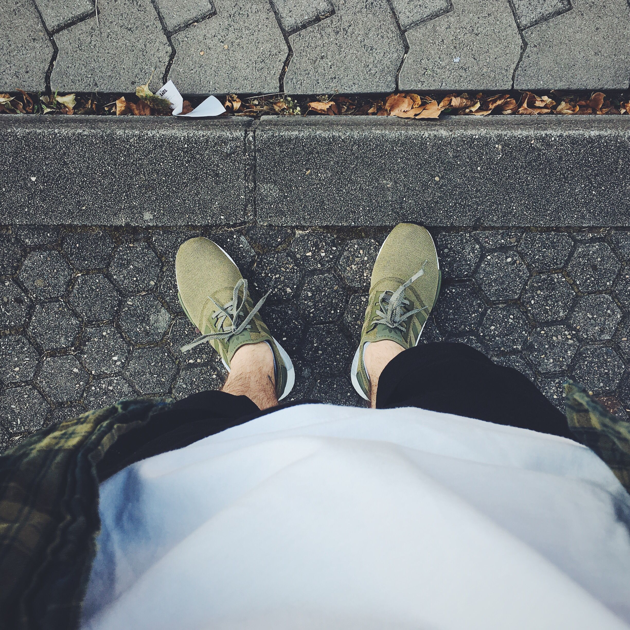 Adidas NMD Olive Khaki on feet Outfit