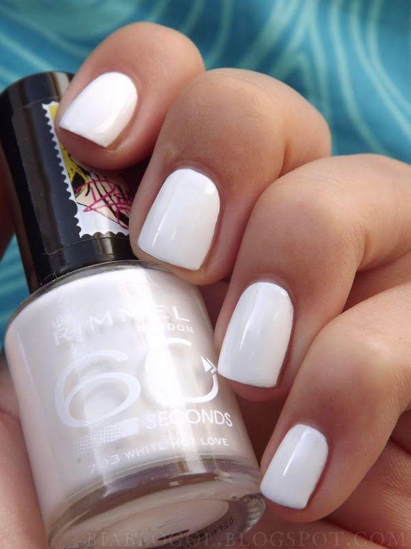 Rimmel 60 Seconds White Hot Love 703 Nail Polish Nail Polish Rimmel Nail Polish White Nail Polish