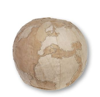 world pouf maps pinterest vintage canvas big pillows and pillows. Black Bedroom Furniture Sets. Home Design Ideas