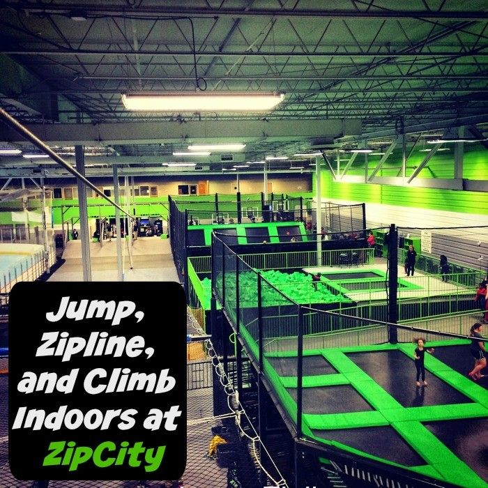 Jump Zipline And Climb Indoors At Zipcity Trampoline Ziplining Backyard Trampoline