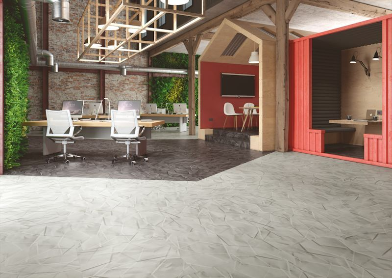 Expona Commercial luxury vinyl tile flooring - Crystal Parchment and Liquorice Parchment