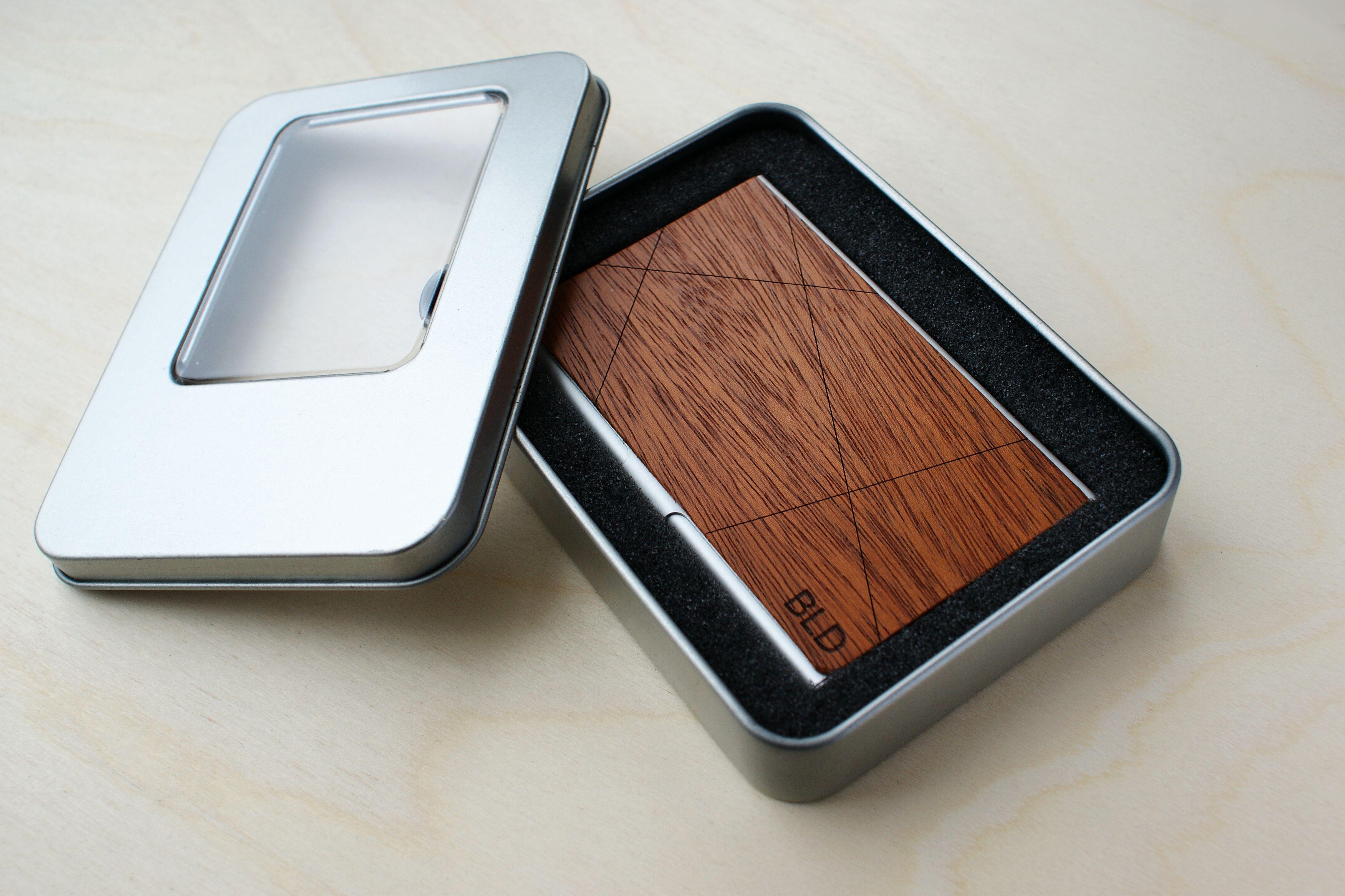 Business card case card holder wallet wood business cardholder for ...