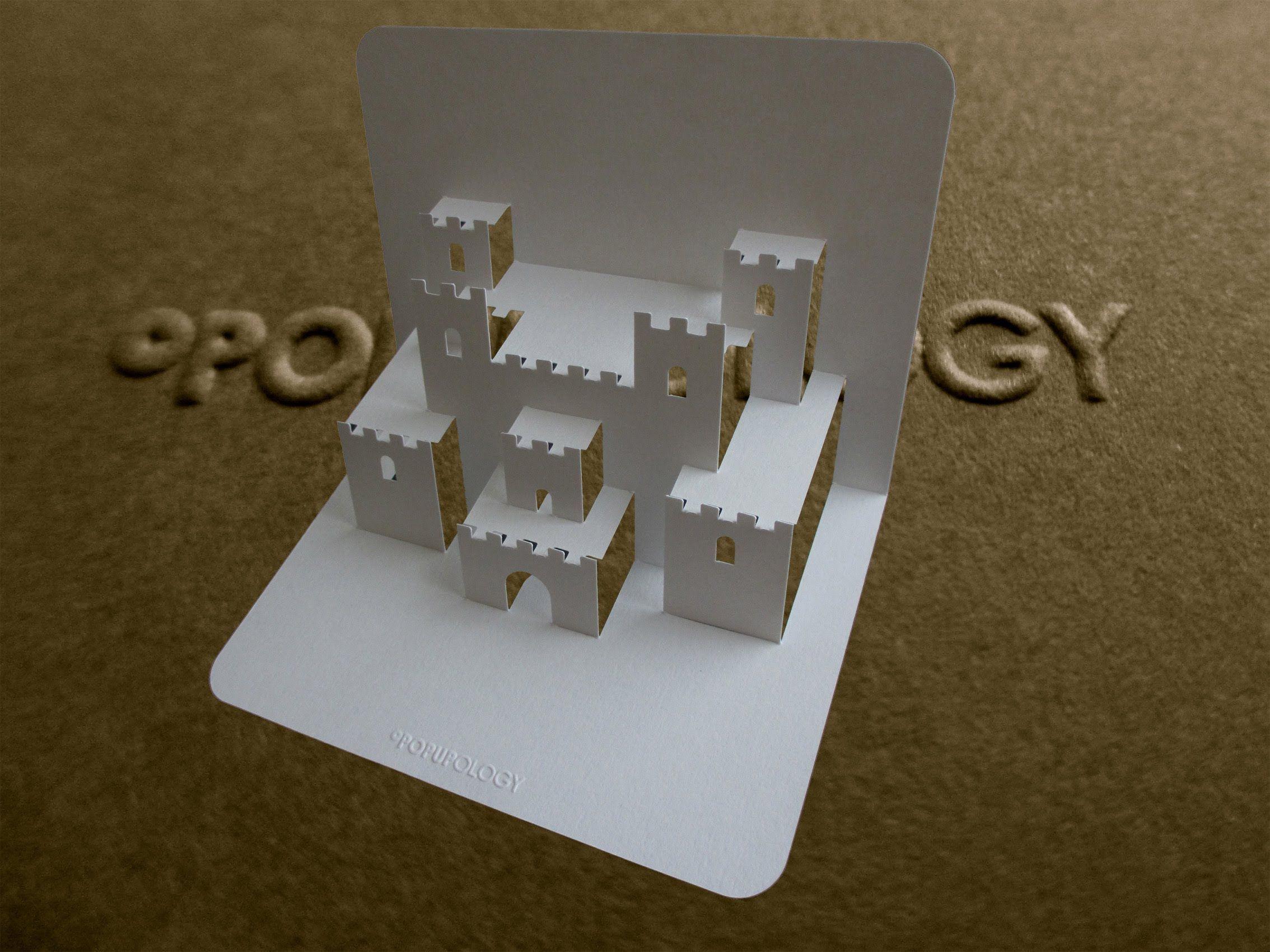Pop Up Castle Card Tutorial Origamic Architecture Pop Up Card Templates Card Tutorial Pop Up Art