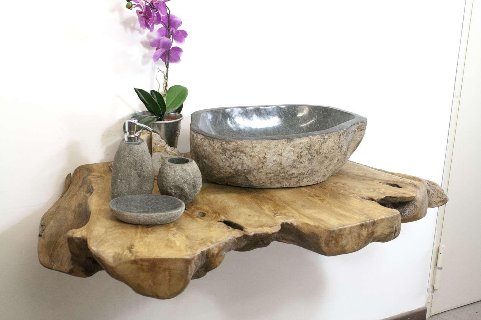 Waschtischplatte Fur Waschbecken Aus Naturstein Waschtischplatte Rustikale Bader Badezimmer Trends