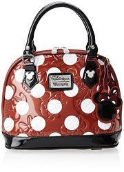 Disney Minnie Polka Dot Mini Embossed Top Handle Bag