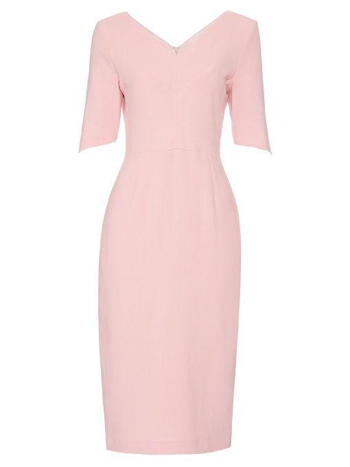 c89cec9b92f9 Goat Carmen V-neck wool-crepe dress