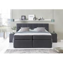 Photo of Box spring bed Bea 200×220 cm Anthracite H3 with Visco topper