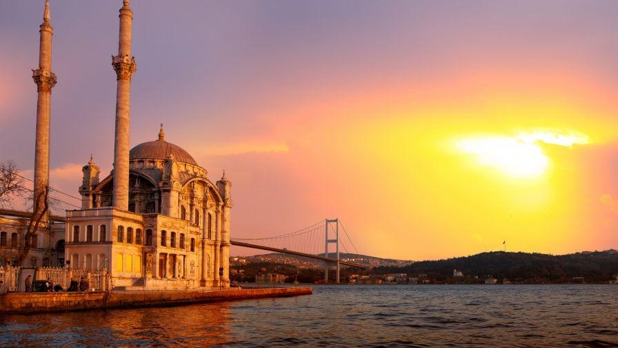 Ortakoy Mosque Istanbul Turkey Wallpaper Download Free High Resolution