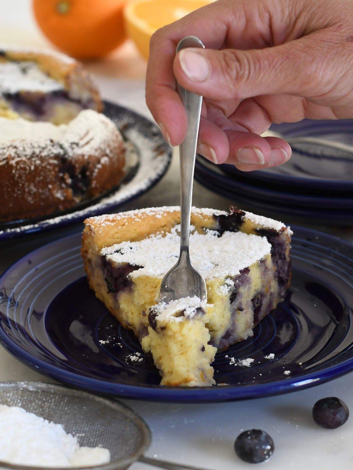 Italian Ricotta Cheese Cake With Blueberries Ricotta Recipes Dessert Ricotta Cheese Ricotta Cheese Desserts