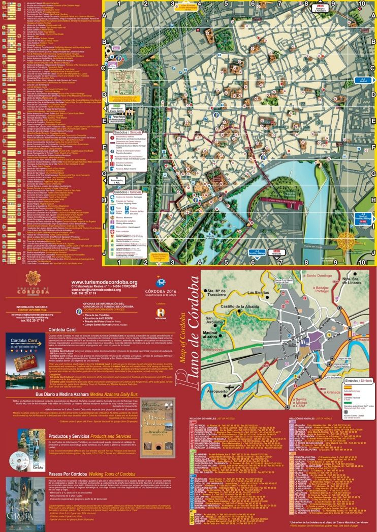 Cordoba tourist map Maps Pinterest Tourist map Cordoba and Spain