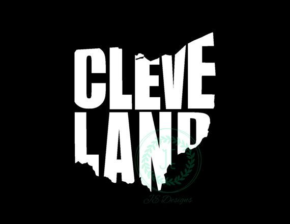 Cleveland Ohio OH Vinyl Decal State City Cutout Car Decal Yeti - Custom vinyl decals cleveland ohio