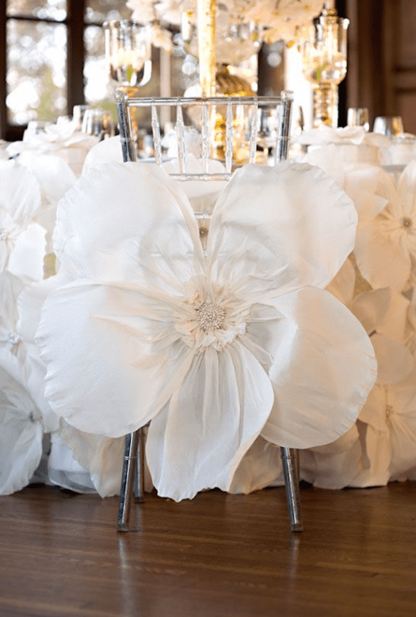 Oversized Flowers Wedding Decor Bridal Musings Wedding Blog 13 Beautifulweddingflowers Wedding Design Decoration Used Wedding Decor Wedding Chairs