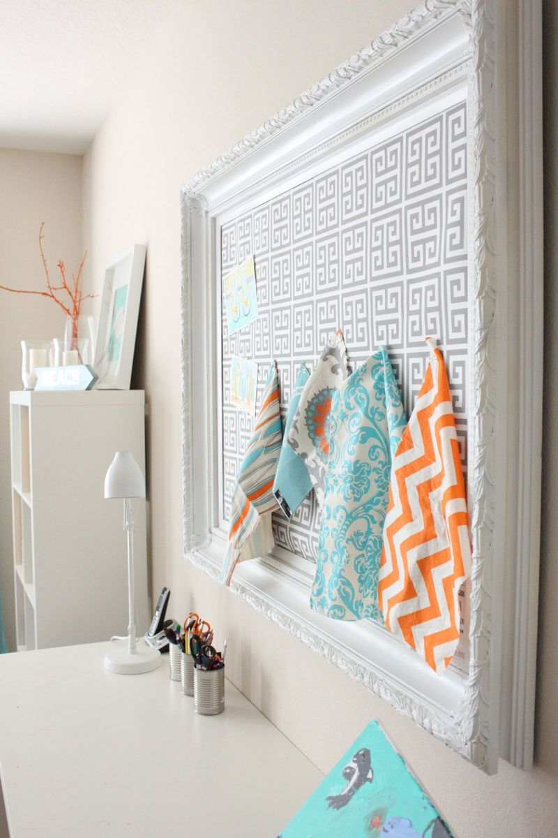 DIY: Framed/Fabric Covered Cork Board | DIY Projects | Pinterest ...