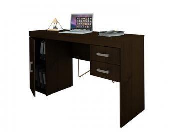 Escrivaninha Mesa Para Computador 1 Porta 2 Gavetas Politorno